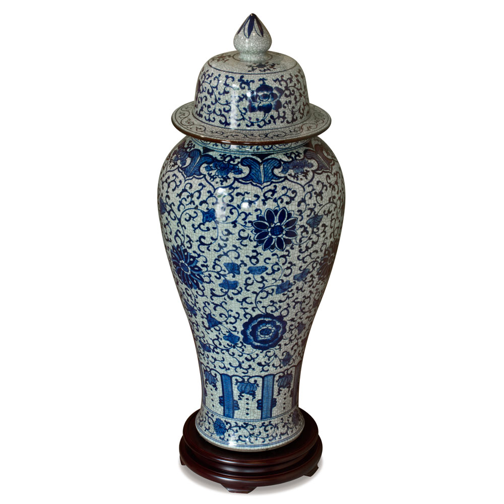 Blue and White Porcelain Imperial Ginger Jar