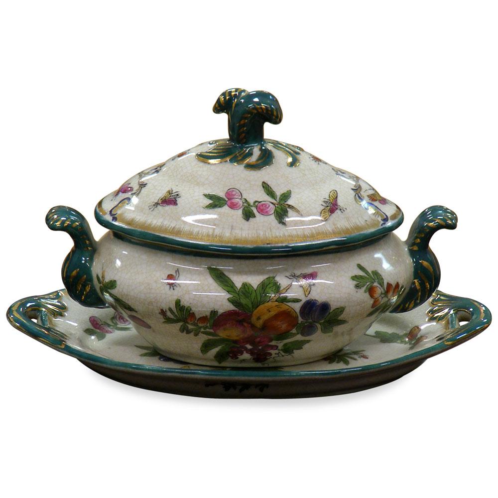 Baronet Motif Oriental Lidded Jar