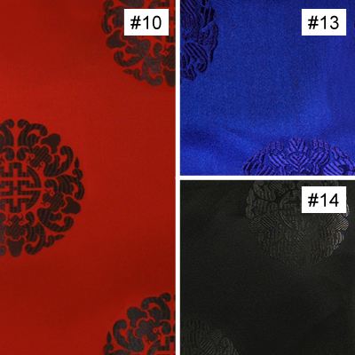 Chinese Longevity Symbol Design (#10, #13, #14) Monk Chair Cushion