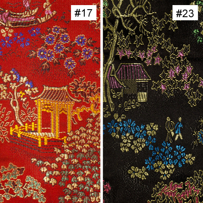 Chinese Courtyard Design (#17, #18, #19) Monk Chair Cushion