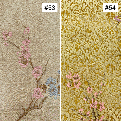 Plum Flower Design (#53, #54) Monk Chair Cushion