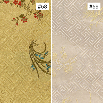 Four-Season Flower Design (#58, #59) Ming Style Chair Cushion