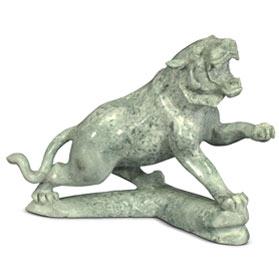 Oriental Jade Cougar Sculpture