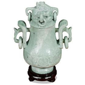 Oriental Jade Imperial Vase
