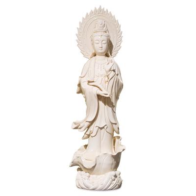 White Porcelain God of Mercy Asian Statue