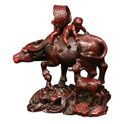 Shou Shan Ox Asian Statue