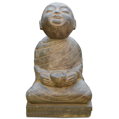 Shaolin Temple Stone Monk Chinese Statue