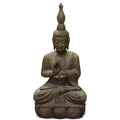 Stone Enlightened Teacher Thai Buddha Statue