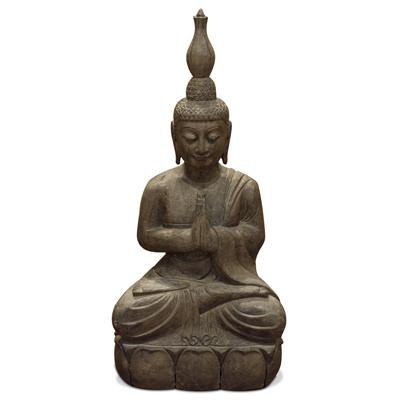 Stone Divine Offering Thai Buddha Statue