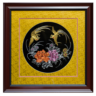 Chinese Silk Embroidery of Double Phoenix