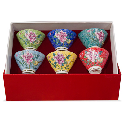 Porcelain Cone Shape Tea Cup Set
