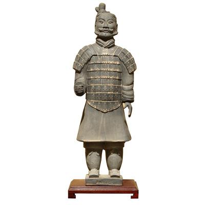 24 Inch Terracotta Standing Infantry Warrior