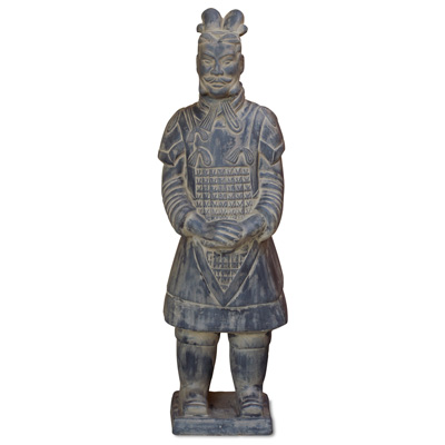 47 Inch Terracotta Standing Army General Warrior
