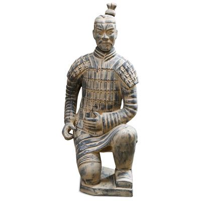 51 Inch Terracotta Kneeling Archer Warrior