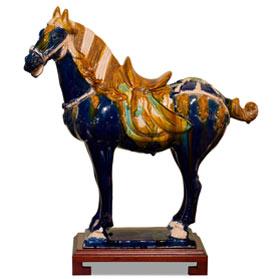 Tang Tri-Color Glazed Ceramics Oriental Horse