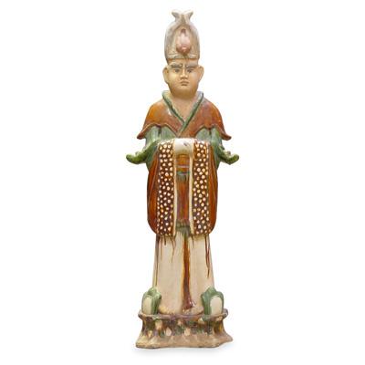 Tang Tri-Color Glazed Ceramics Officer