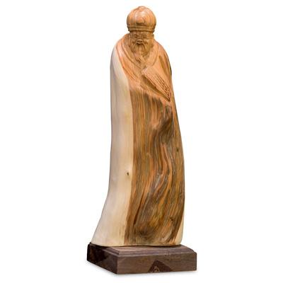 Cedar Wood Root God of Longevity Asian Sculpture