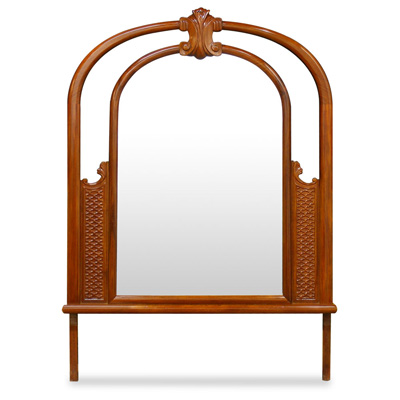 Natural Finish Rosewood French Design Mirror