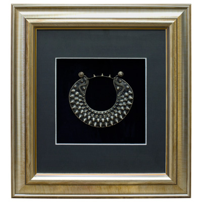Miao Jewelry Studded Neck Ring Shadow Box