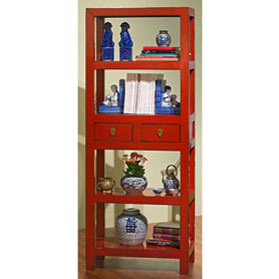 Elmwood Zen Style Asian Bookcase