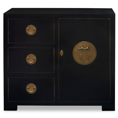 Black Elmwood Chinese Ming Cabinet
