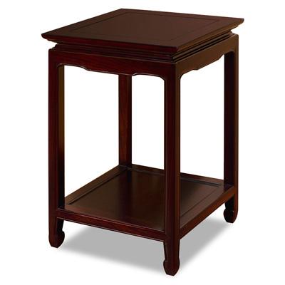 Dark Cherry Elmwood Chinese Ming Pedestal