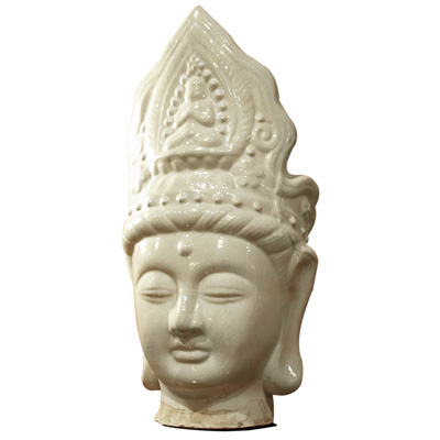 Ceramic Guanyin Head Wearing Crown
