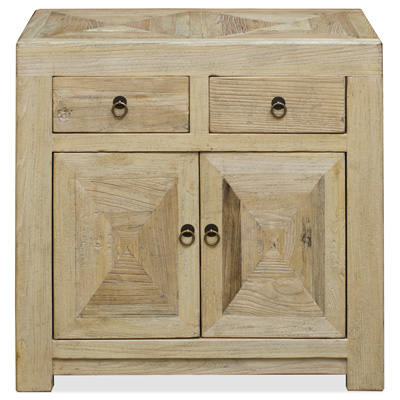 Natural Elmwood Ming Cabinet