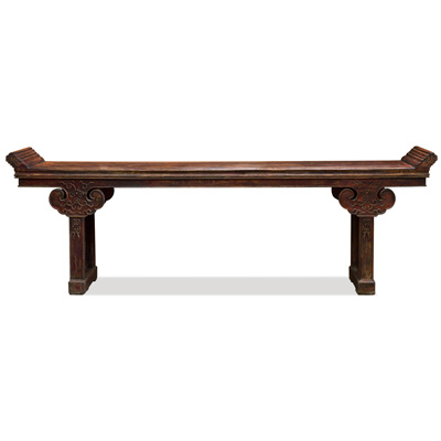 Vintage Elmwood Imperial Asian Altar Console Table