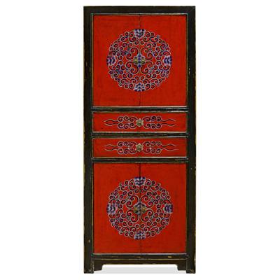 Elmwood Tibetan Tall Cabinet