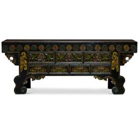 Vintage Elmwood Kelsang Imperial Altar Cabinet