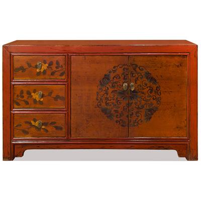Elmwood Flower Tibetan Cabinet