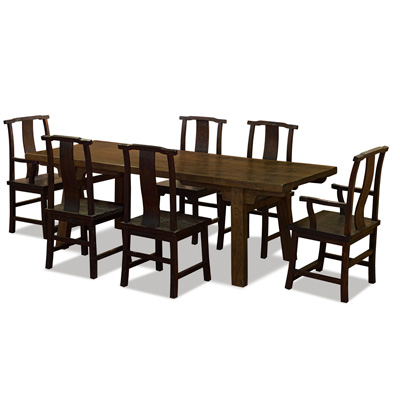 Espresso Elmwood Village Dining Set with 6 Chairs