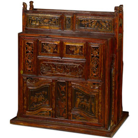Vintage Elmwood Chinese Wedding Cabinet