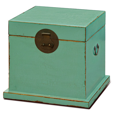 Petite Elmwood Ming Design Chinese Trunk