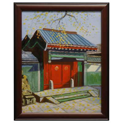 Village Gate Chinese Oil Painting