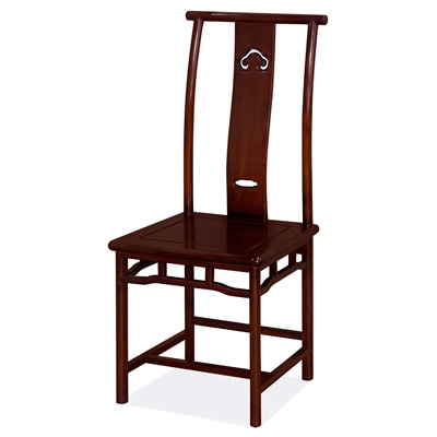 Mahogany Finish Rosewood Chinese Ming Chair