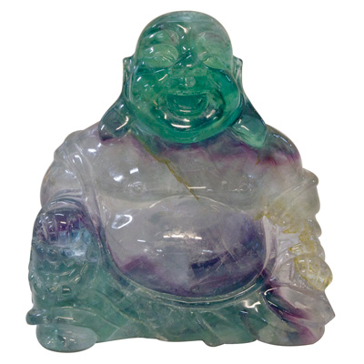 3 Inch Fluorite Happy Buddha Asian Figurine