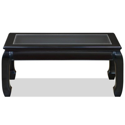 Black Rosewood Ming Rectangular Chinese Coffee Table