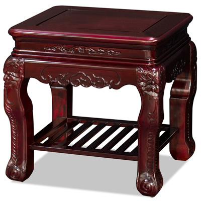 Cherry Rosewood Chinese Palace Lamp Table