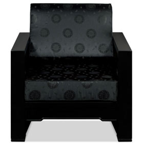 Black Elmwood Chinese Wang Zi Sofa Chair
