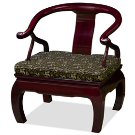 Dark Cherry Rosewood Chow Leg Monk Chair