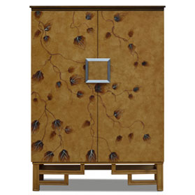 Gold Su Chow Chinese Armoire