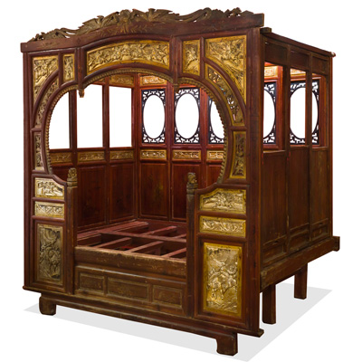 Antique Gu Fei Chinese Canopy Bed