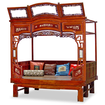 Antique Ci Xi Chinese Canopy Bed