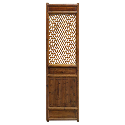 Chinese Antique Door Panel with Cross Lattice Pattern