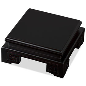 4.5 Inch Black Square Chinese Wooden Stand