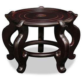 6.5 Inch Dark Brown Chinese Wooden Planter Stand
