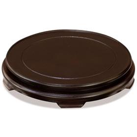 10 Inch Dark Brown Round Chinese Wooden Stand