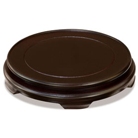 9 Inch Dark Brown Round Chinese Wooden Stand